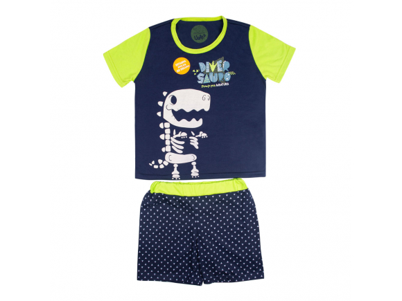 Pijama Fosforescente Short Infantil Masculino 10 – Diversauro Uatt?